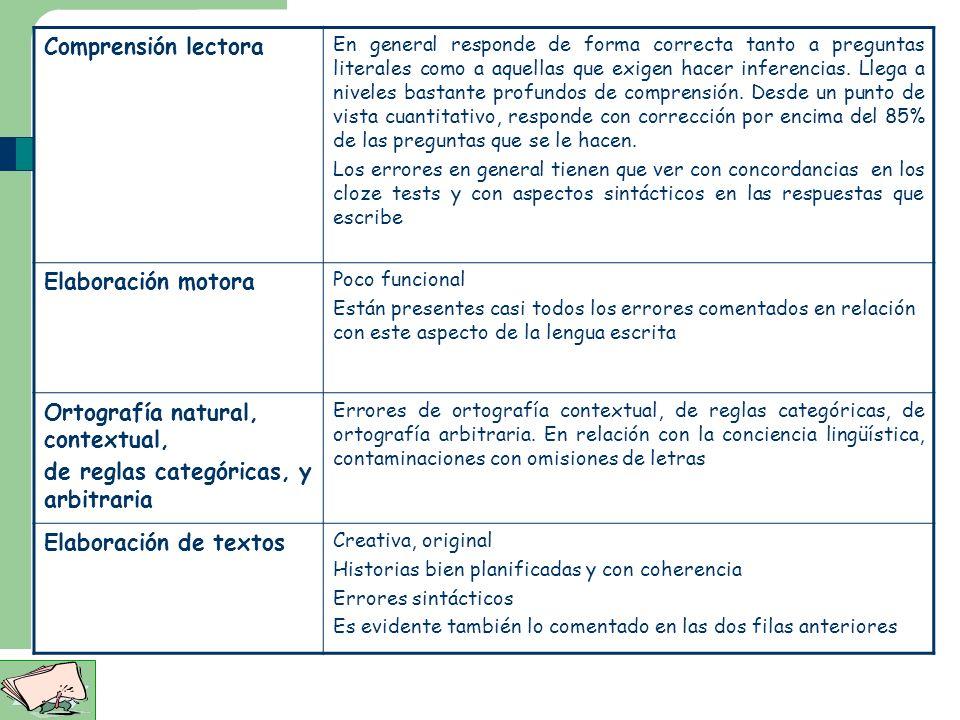 Ortografía natural, contextual, de reglas categóricas, y arbitraria