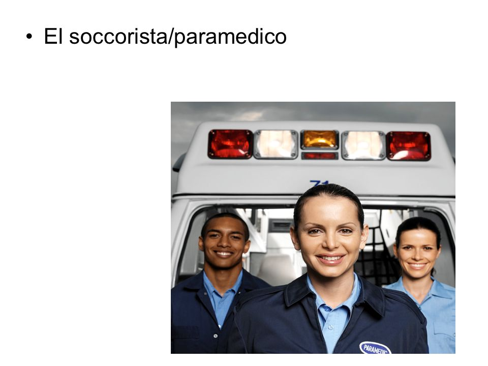 El soccorista/paramedico