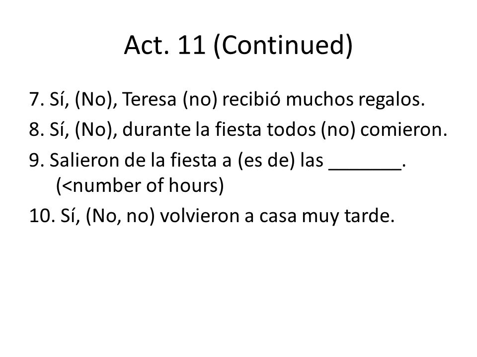 Act. 11 (Continued)