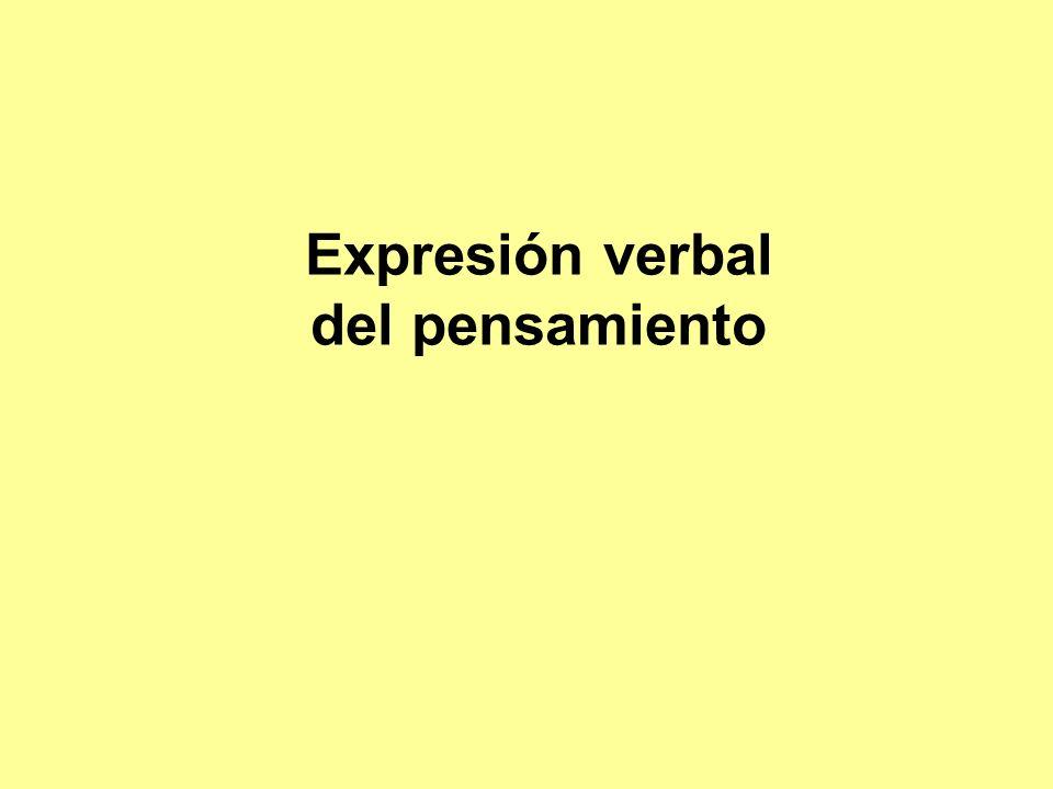 Expresión verbal del pensamiento