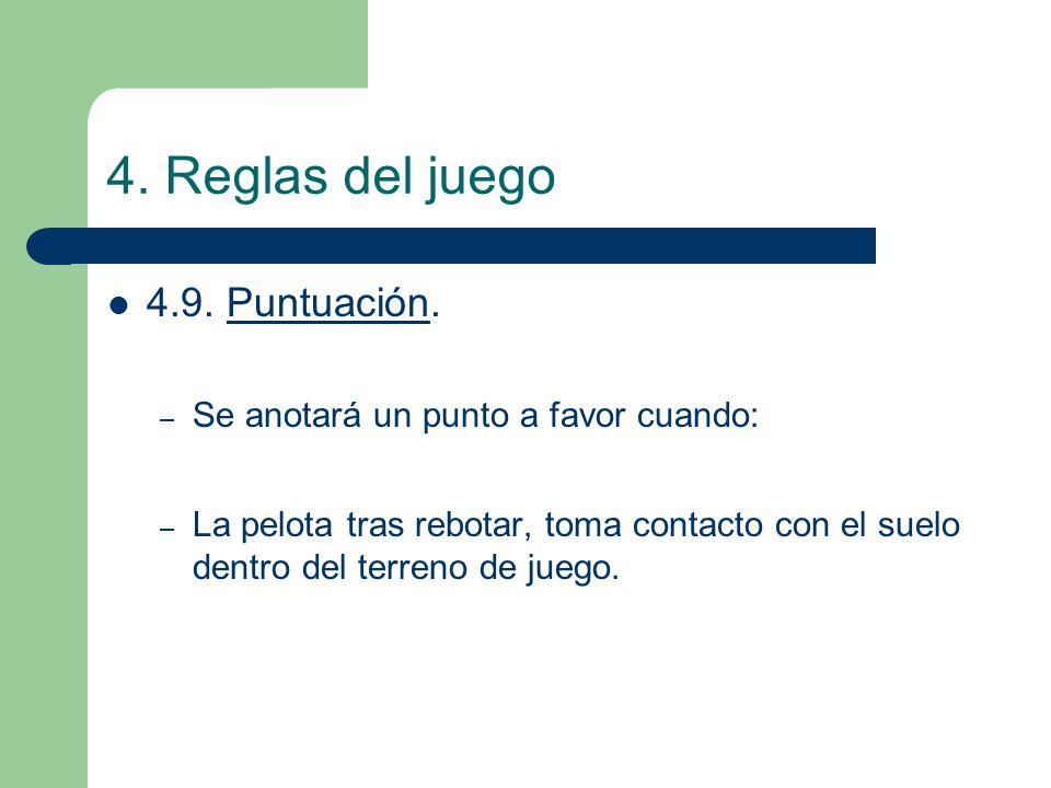 4. Reglas del juego 4.9. Puntuación.
