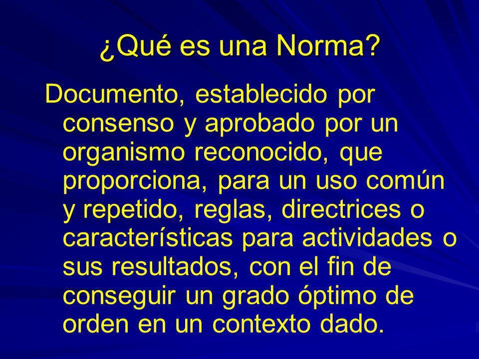 ¿Qué es una Norma