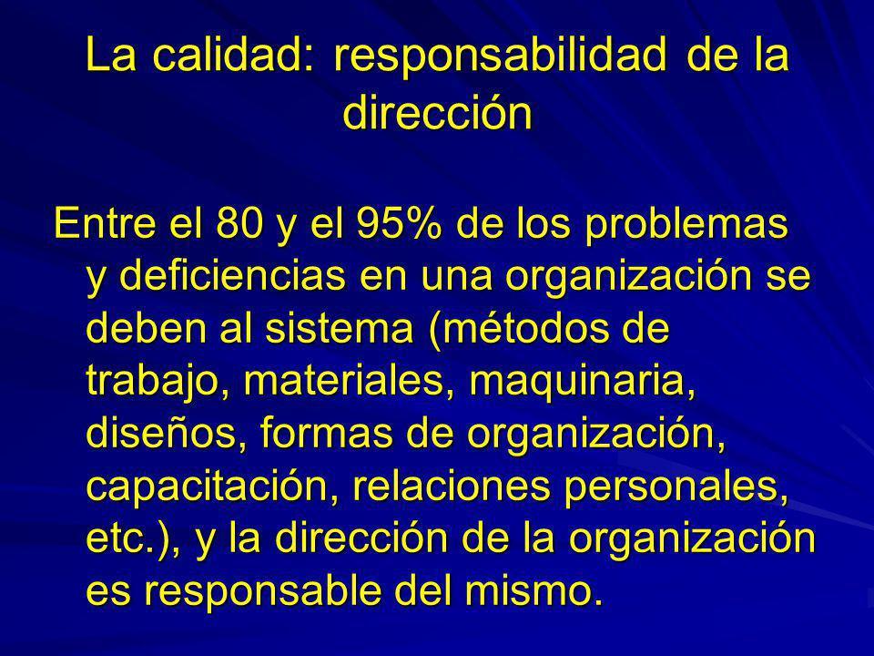 La calidad: responsabilidad de la dirección