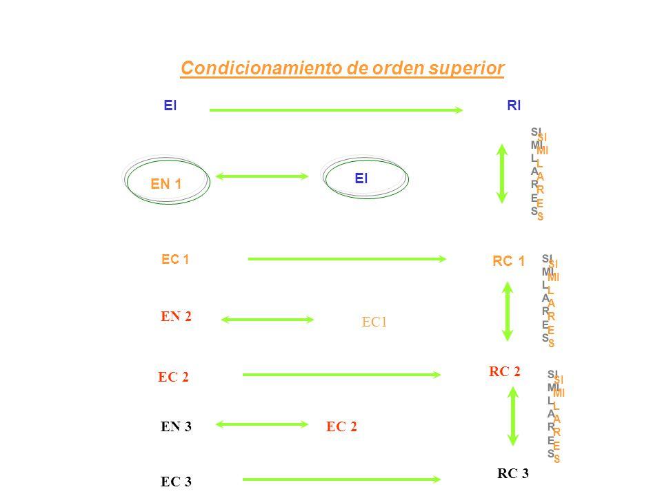 Condicionamiento de orden superior EI RI