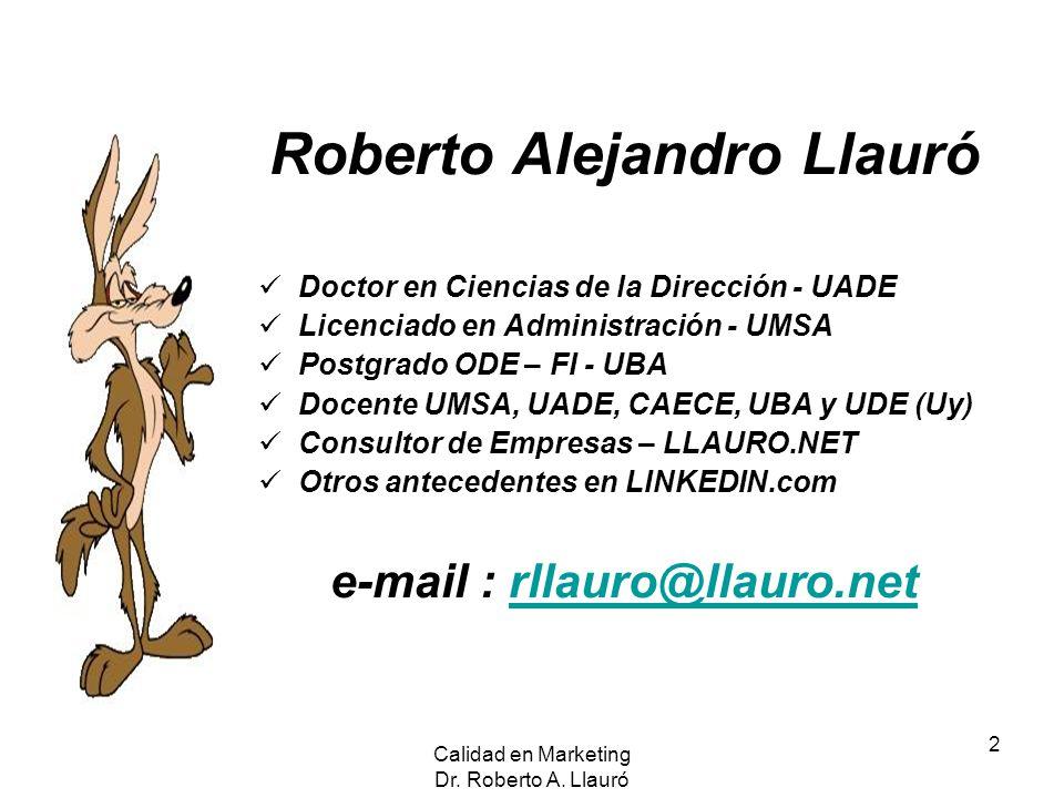 Roberto Alejandro Llauró e-mail : rllauro@llauro.net