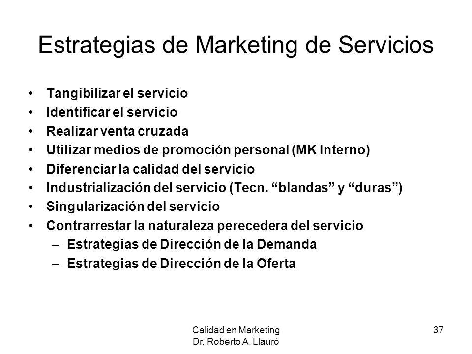 Estrategias de Marketing de Servicios