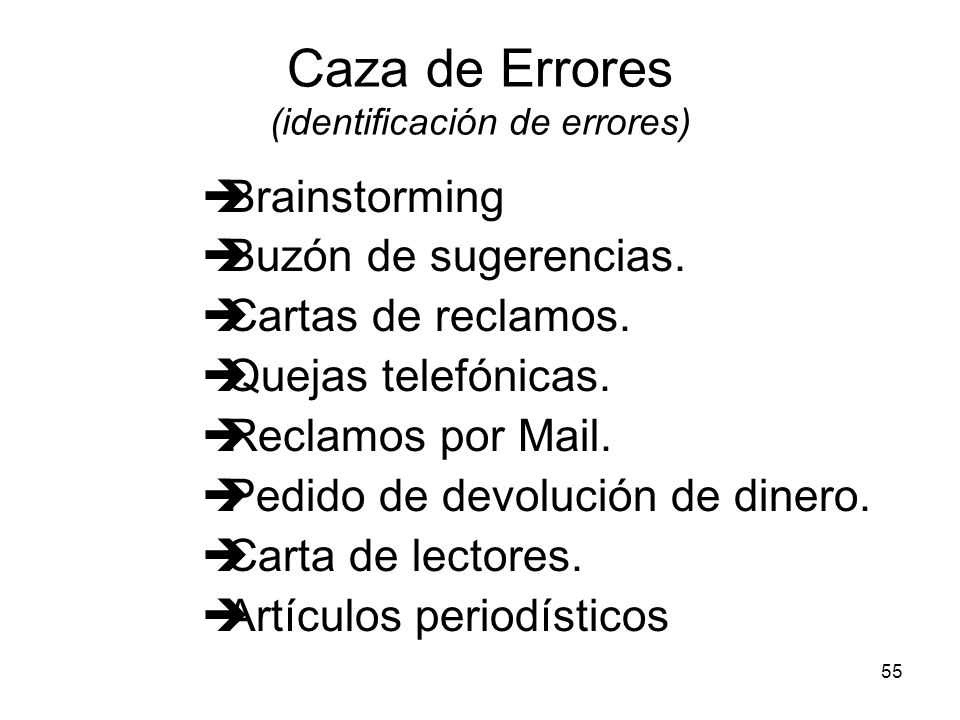Caza de Errores (identificación de errores)