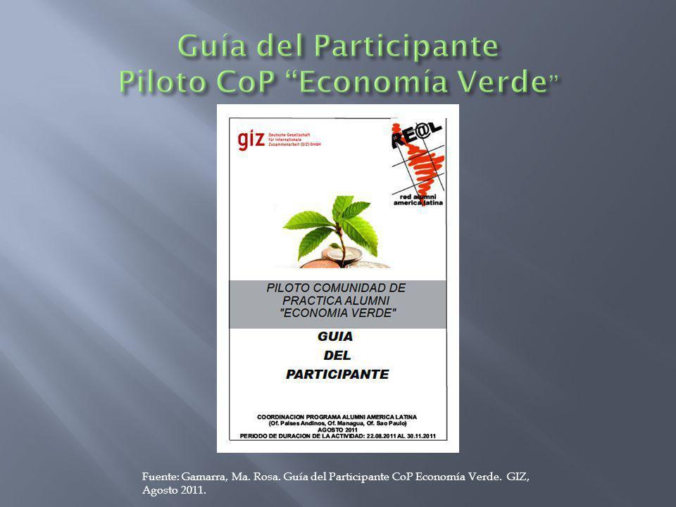 Guía del Participante Piloto CoP Economía Verde