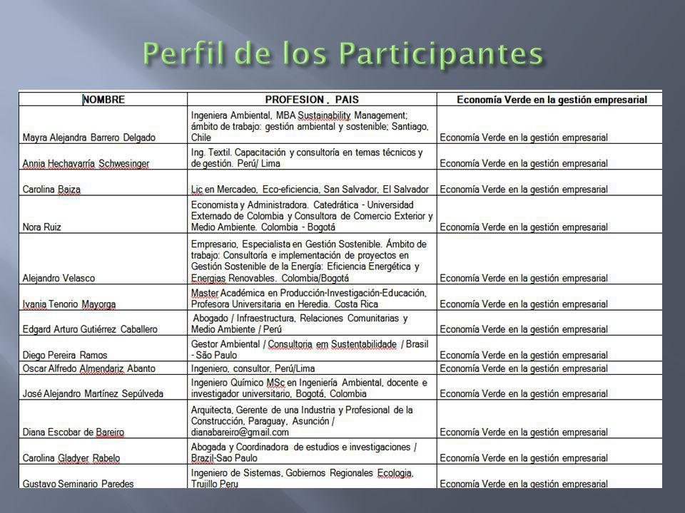 Perfil de los Participantes