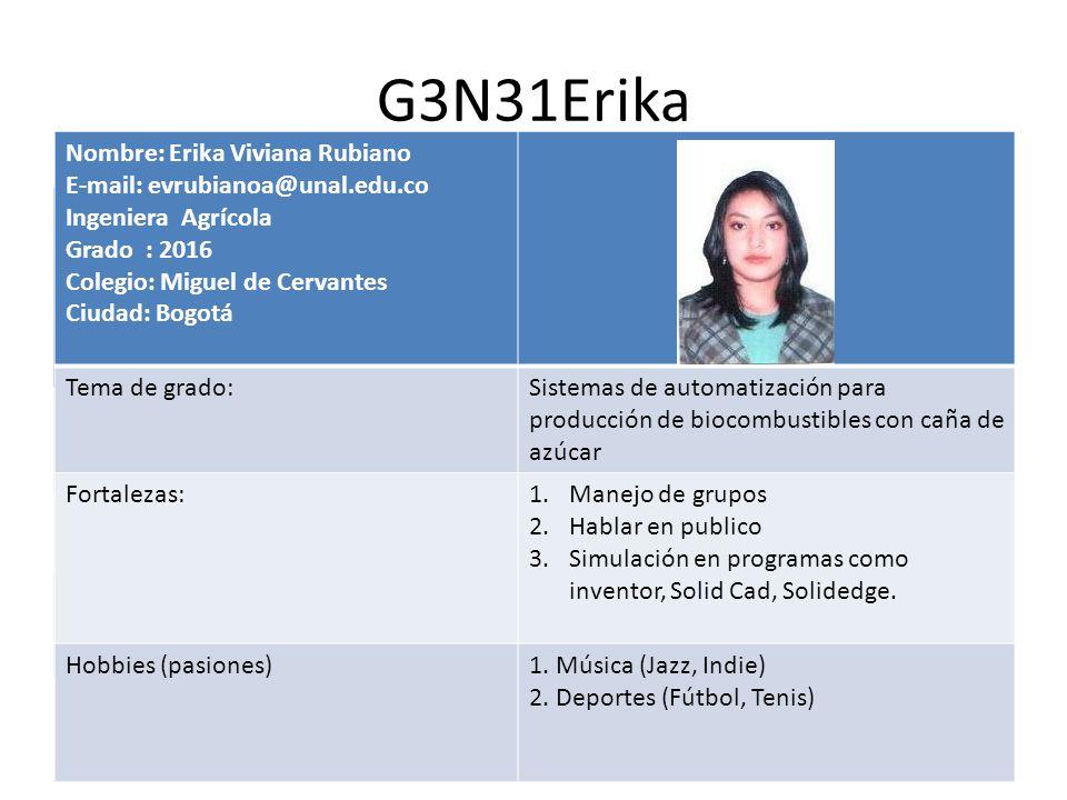 G3N31Erika Nombre: Erika Viviana Rubiano