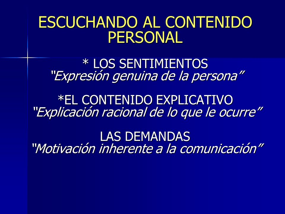 ESCUCHANDO AL CONTENIDO PERSONAL