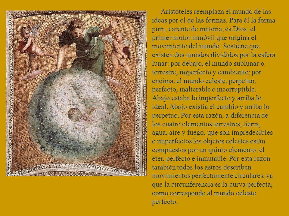 Aristóteles reemplaza el mundo de las ideas por el de las formas