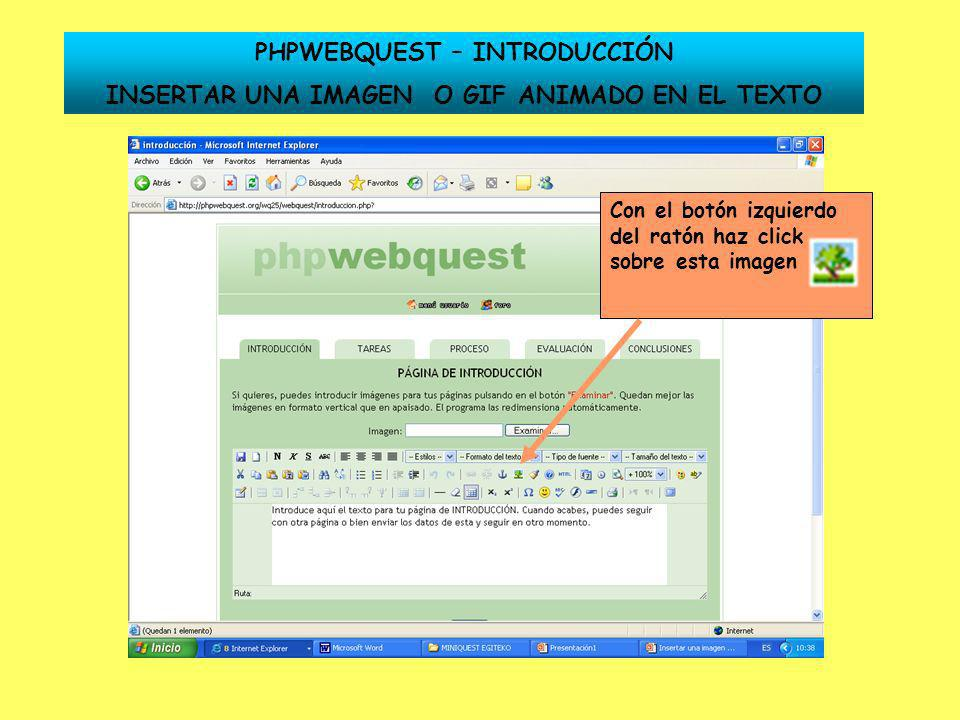 PHPWEBQUEST – INTRODUCCIÓN