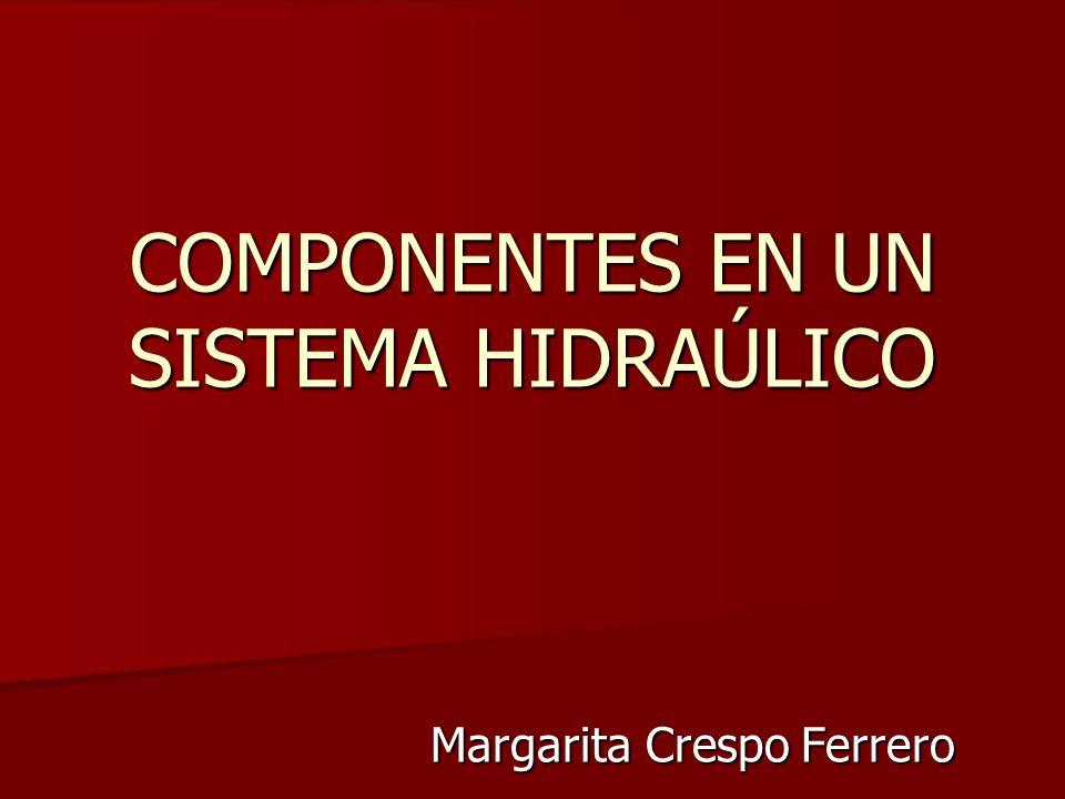 COMPONENTES EN UN SISTEMA HIDRAÚLICO