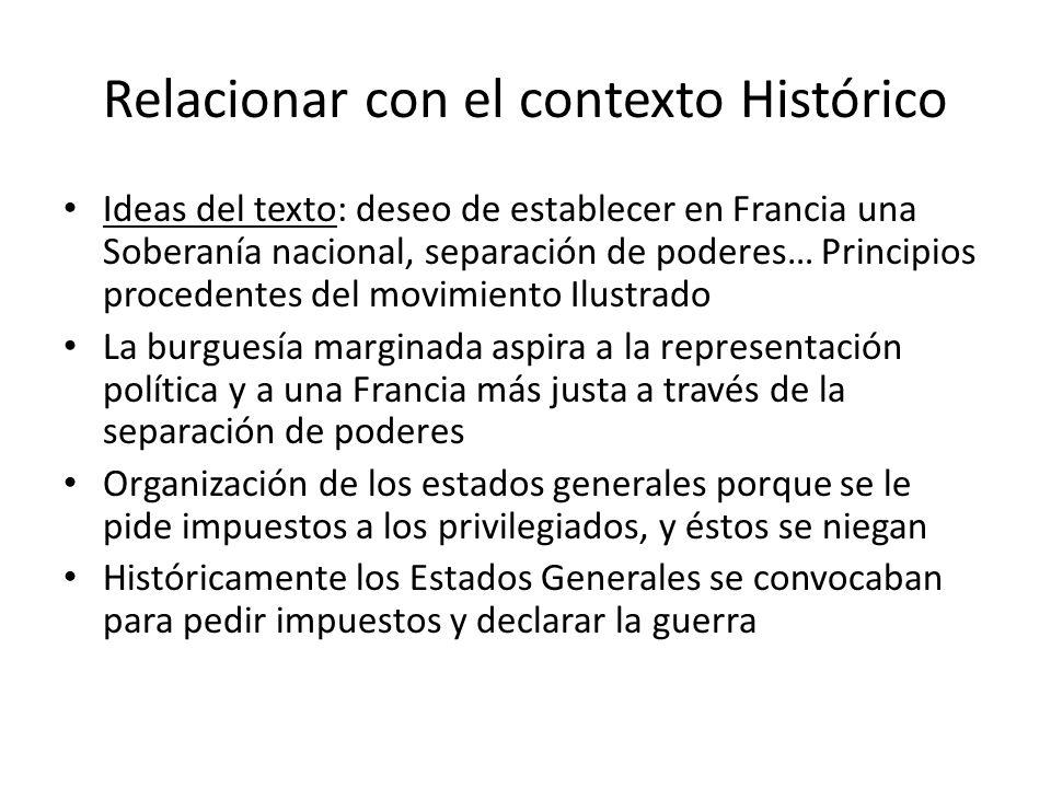 Relacionar con el contexto Histórico