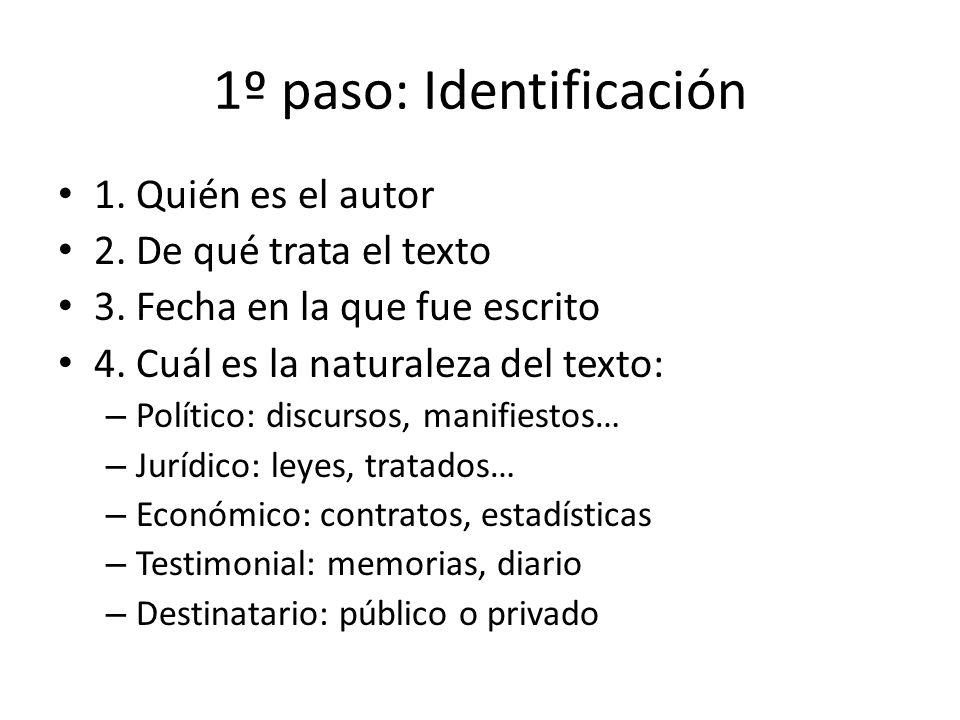 1º paso: Identificación