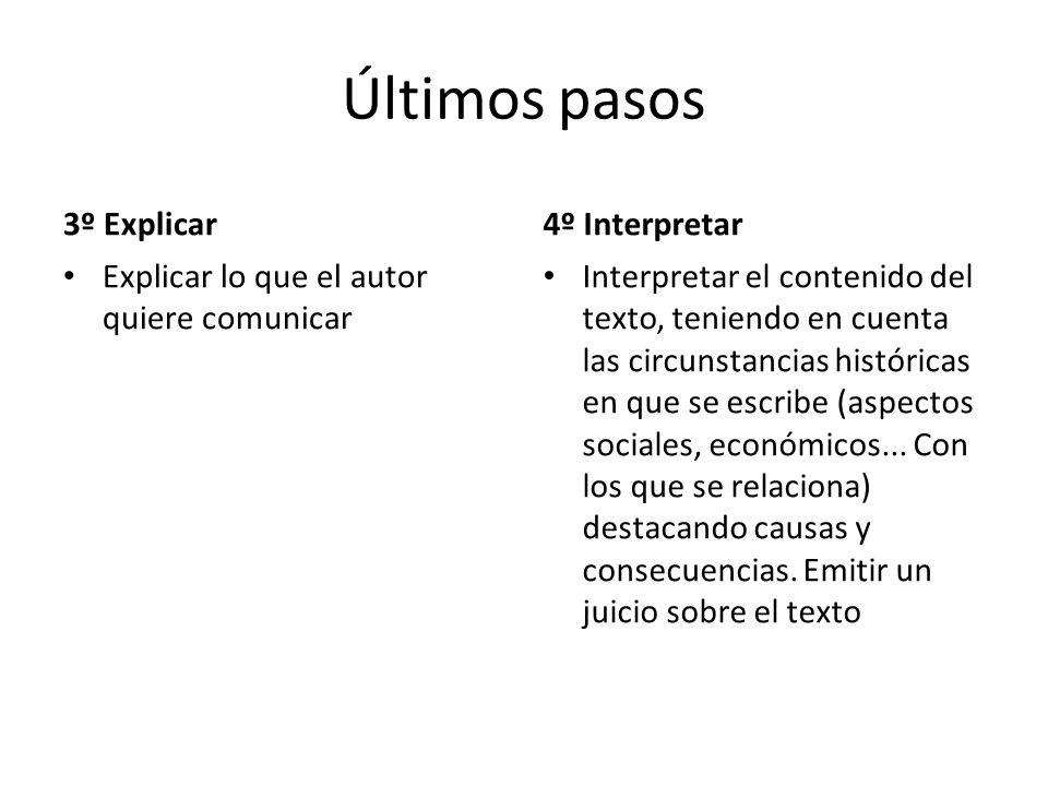 Últimos pasos 3º Explicar 4º Interpretar
