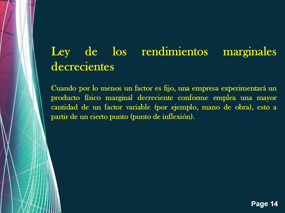 Ley de los rendimientos marginales decrecientes