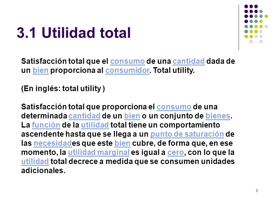 3.1 Utilidad total