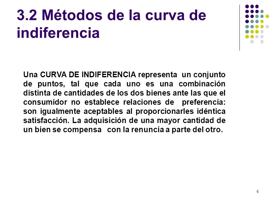 3.2 Métodos de la curva de indiferencia