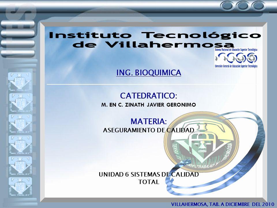5 ING. BIOQUIMICA CATEDRATICO: MATERIA: Instituto Tecnológico