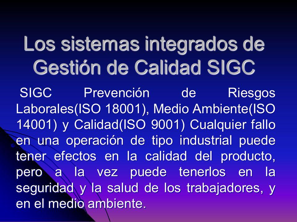 Los sistemas integrados de Gestión de Calidad SIGC