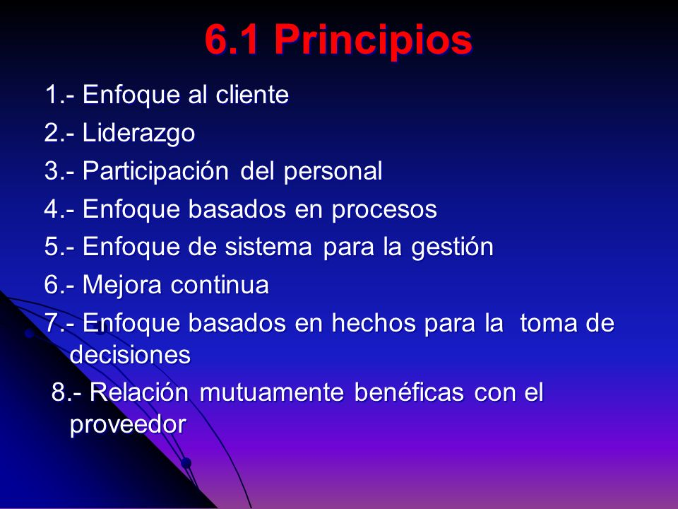 6.1 Principios