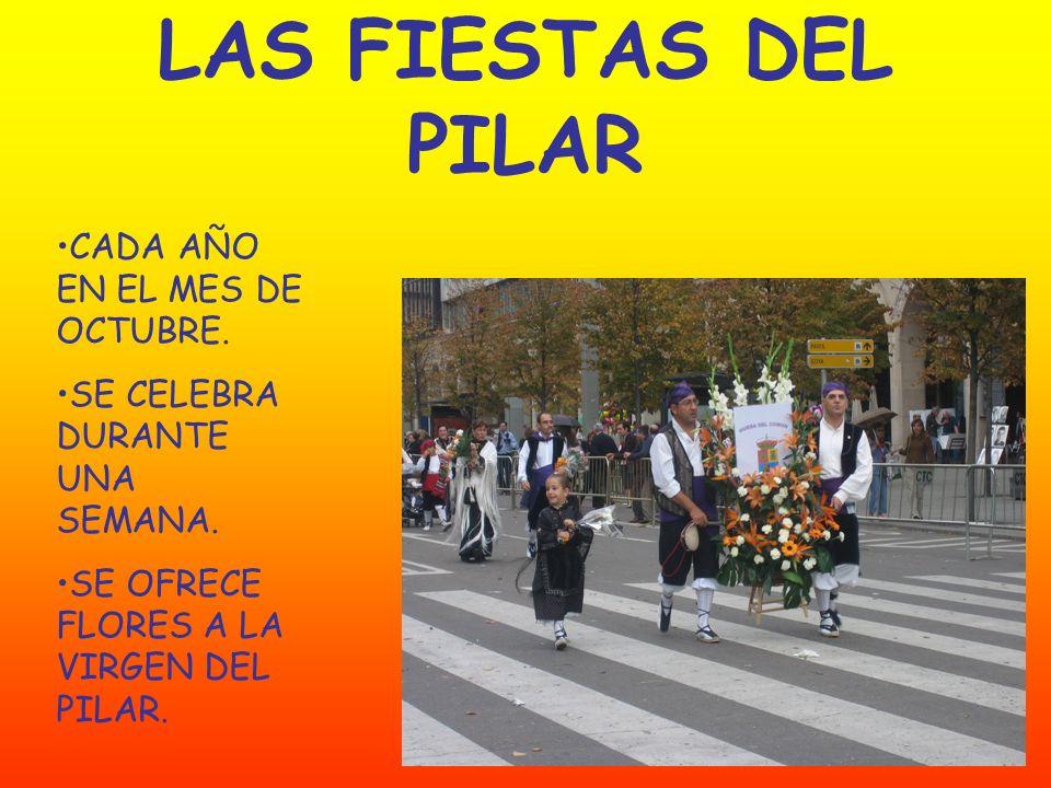 LAS FIESTAS DEL PILAR CADA AÑO EN EL MES DE OCTUBRE.
