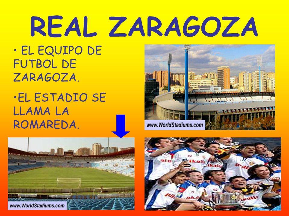 REAL ZARAGOZA EL EQUIPO DE FUTBOL DE ZARAGOZA.