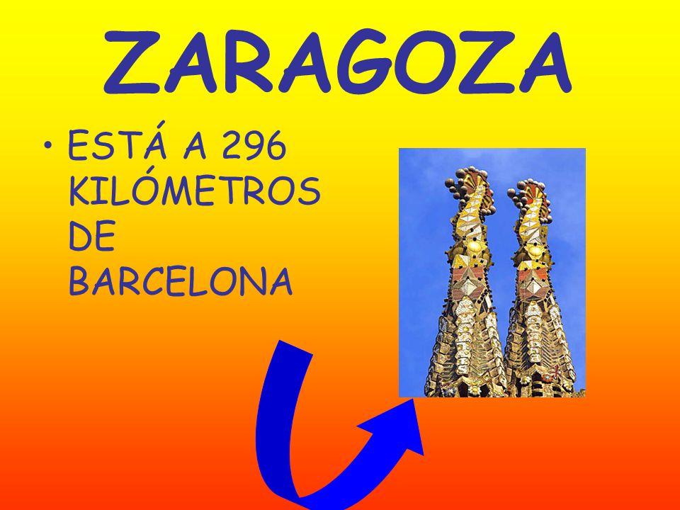 ZARAGOZA ESTÁ A 296 KILÓMETROS DE BARCELONA