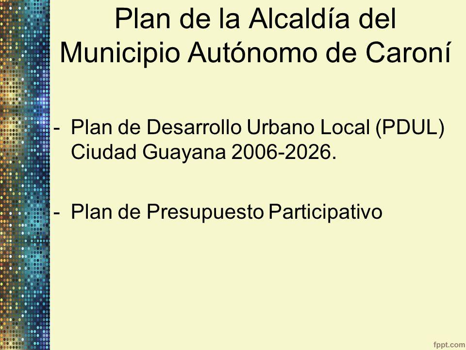 Plan de la Alcaldía del Municipio Autónomo de Caroní
