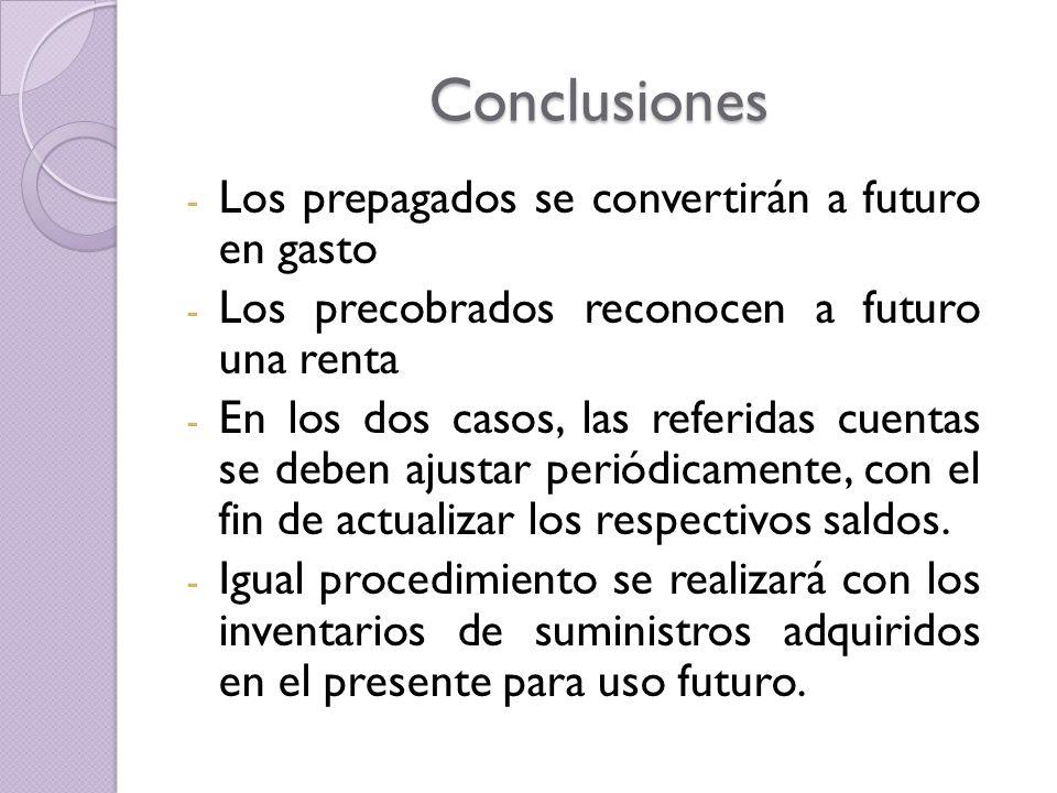 Conclusiones Los prepagados se convertirán a futuro en gasto