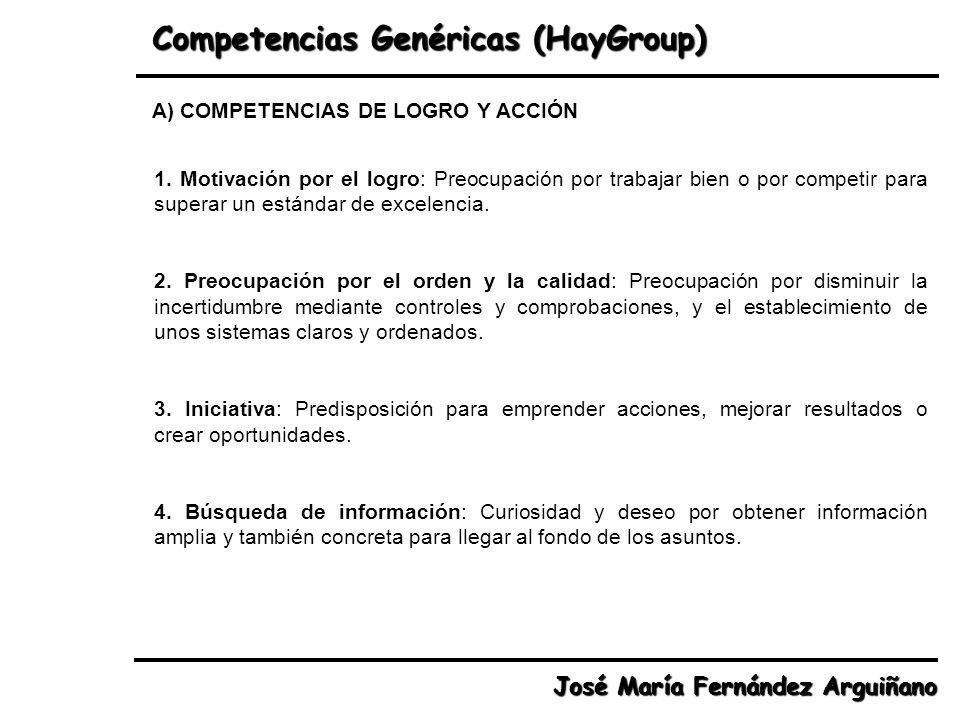 Competencias Genéricas (HayGroup)