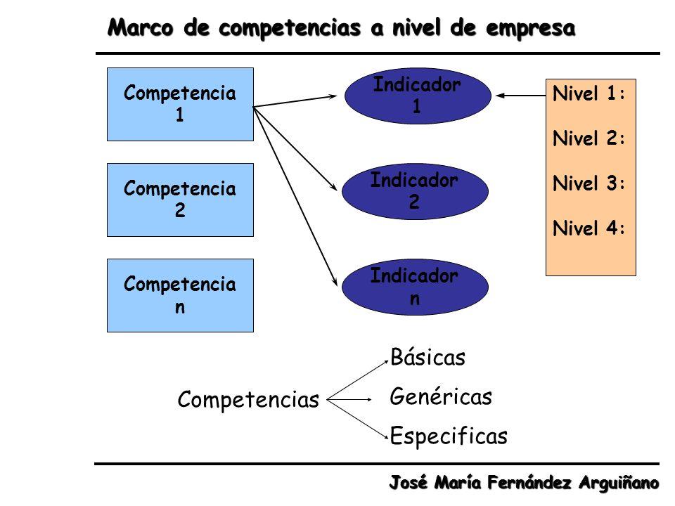 Marco de competencias a nivel de empresa
