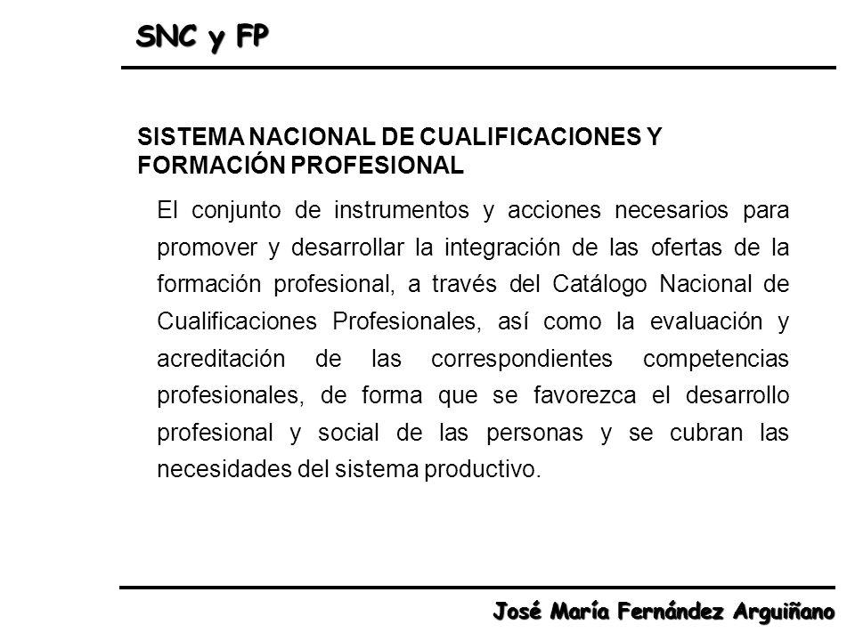 SNC y FP SISTEMA NACIONAL DE CUALIFICACIONES Y FORMACIÓN PROFESIONAL