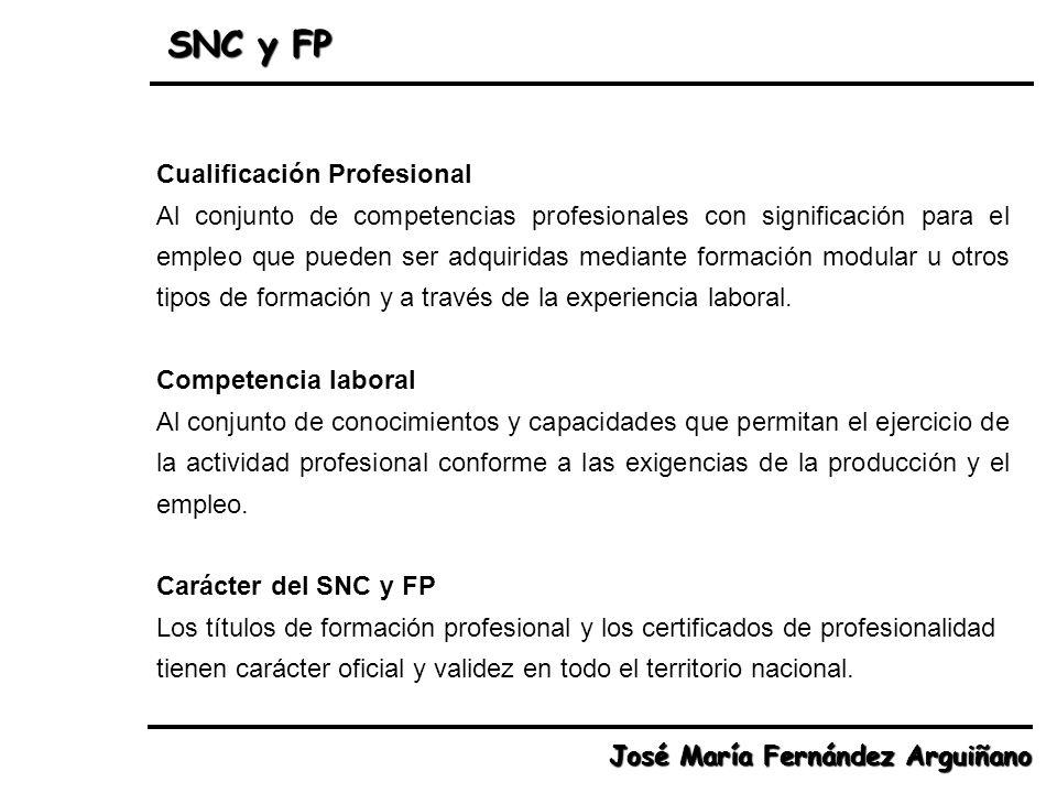 SNC y FP Cualificación Profesional