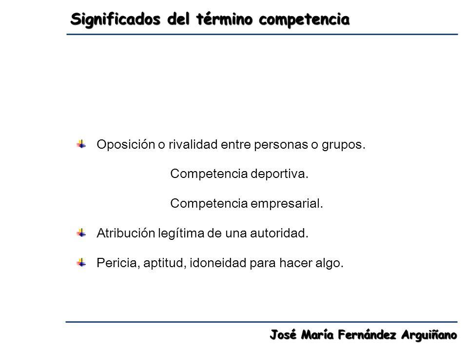 Significados del término competencia