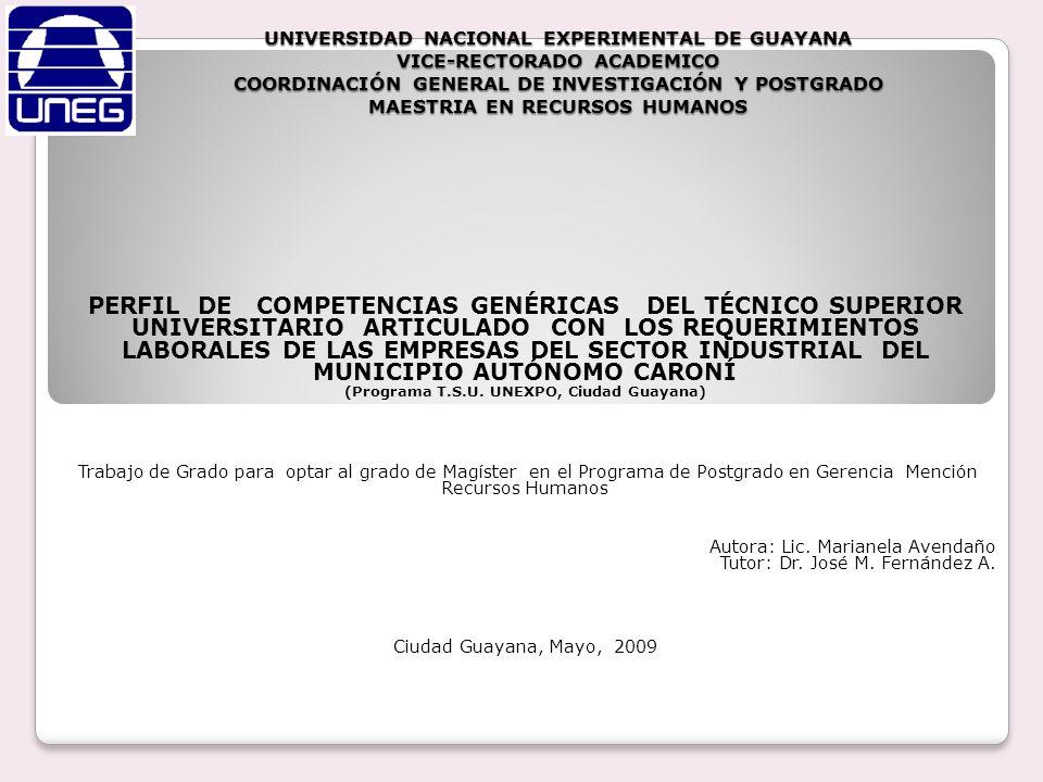 (Programa T.S.U. UNEXPO, Ciudad Guayana)