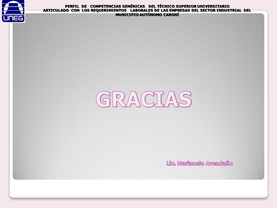 GRACIAS Lic. Marianela Avendaño