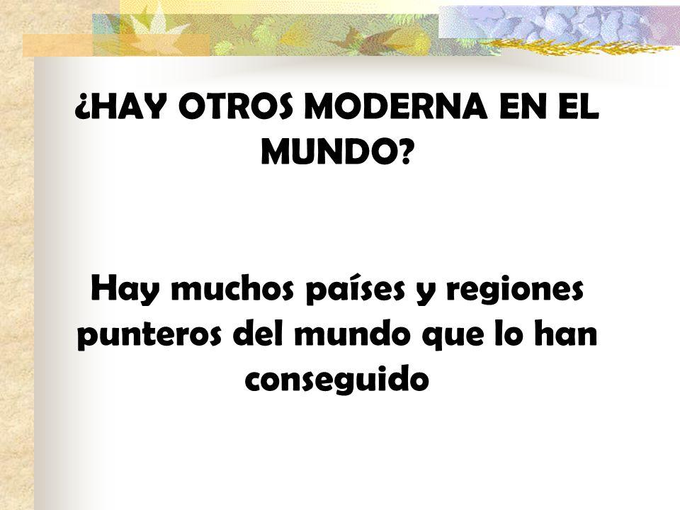 ¿HAY OTROS MODERNA EN EL MUNDO