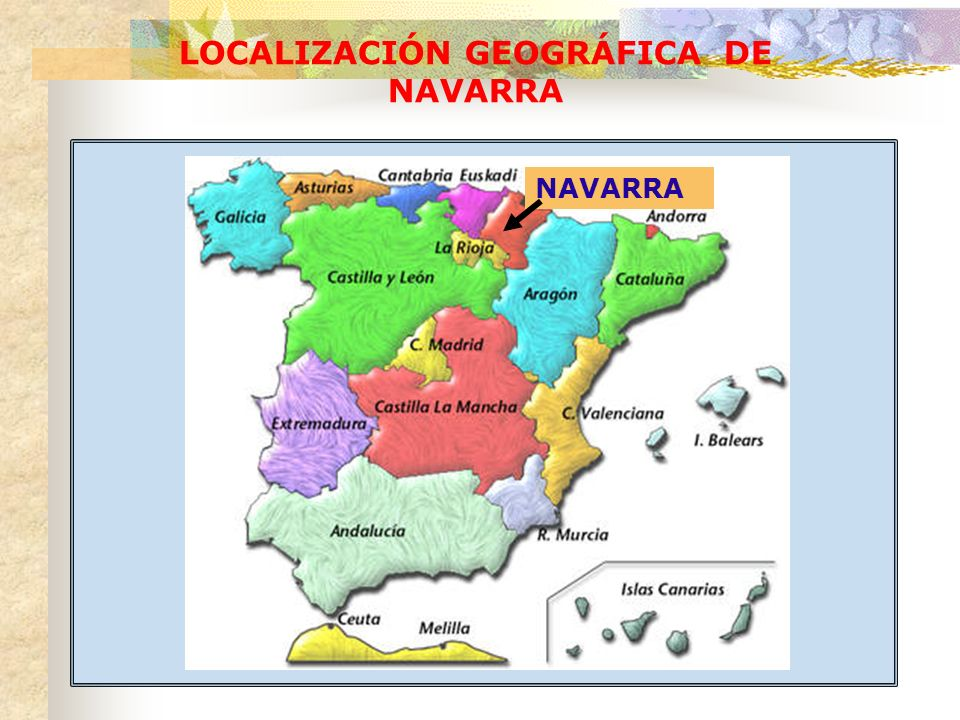 LOCALIZACIÓN GEOGRÁFICA DE NAVARRA