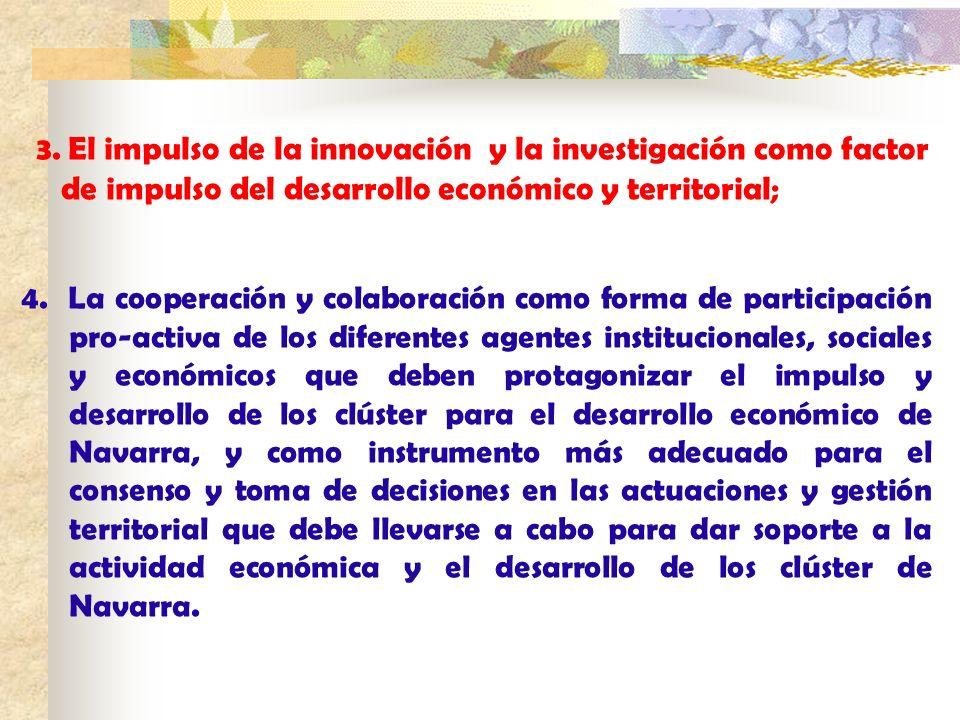 de impulso del desarrollo económico y territorial;