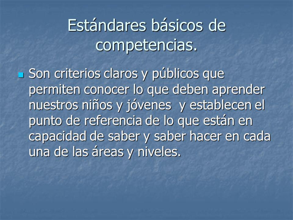 Estándares básicos de competencias.