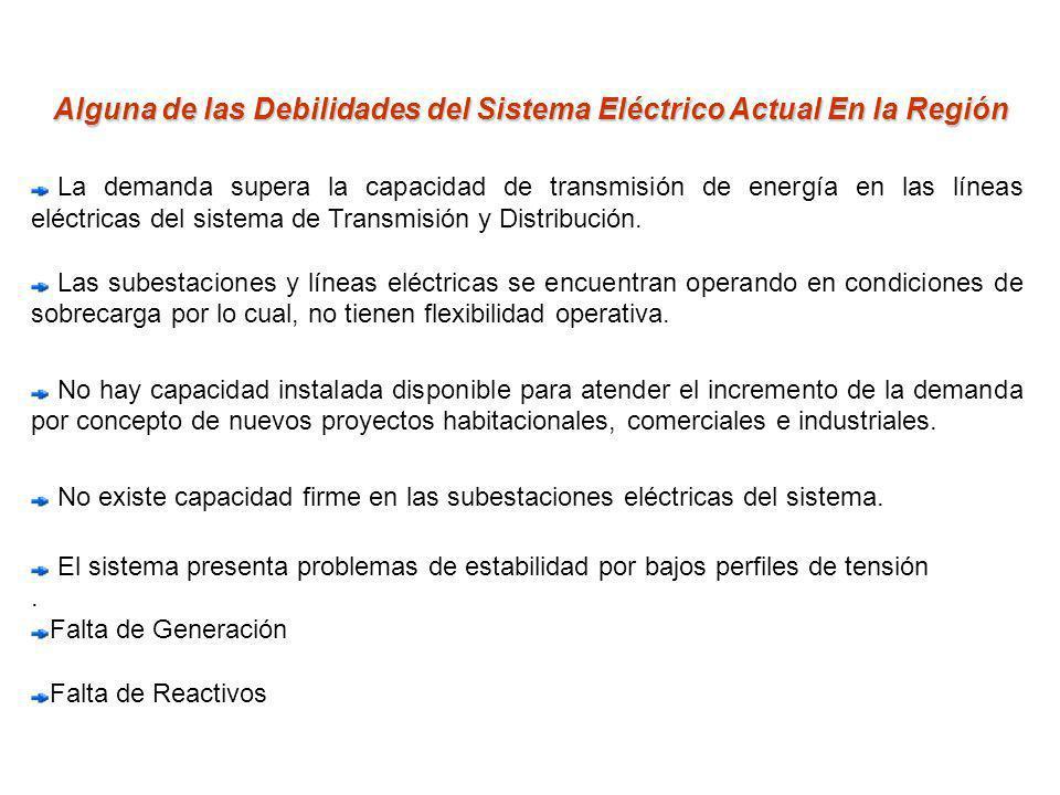 Alguna de las Debilidades del Sistema Eléctrico Actual En la Región