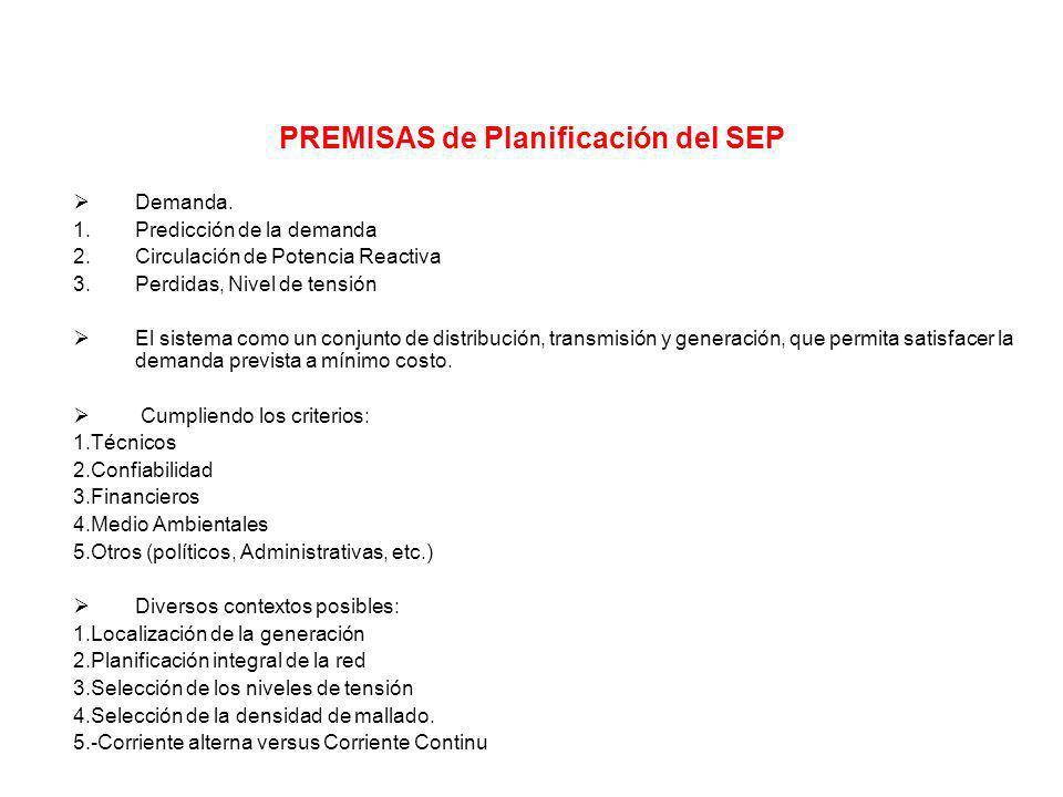 PREMISAS de Planificación del SEP