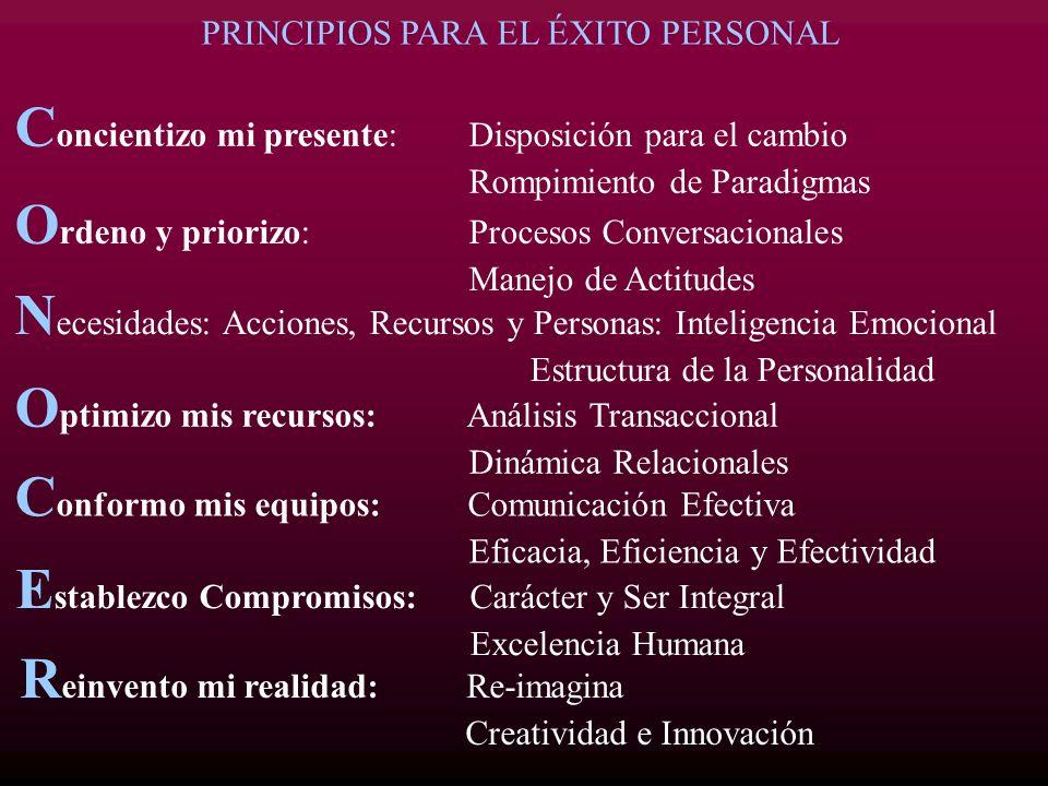 PRINCIPIOS PARA EL ÉXITO PERSONAL