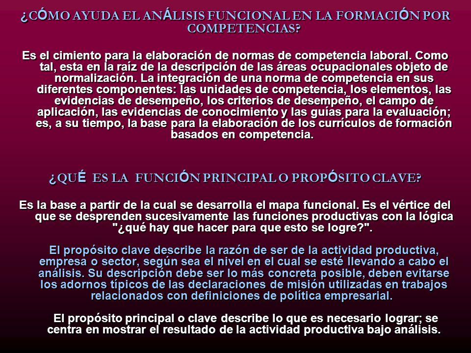 ¿CÓMO AYUDA EL ANÁLISIS FUNCIONAL EN LA FORMACIÓN POR COMPETENCIAS