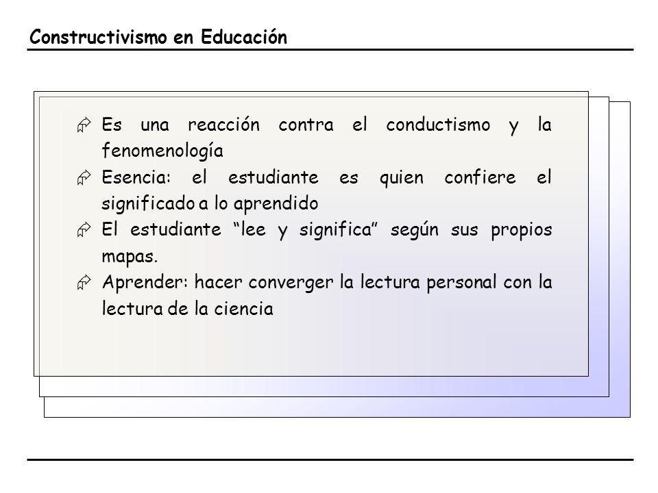 Constructivismo en Educación