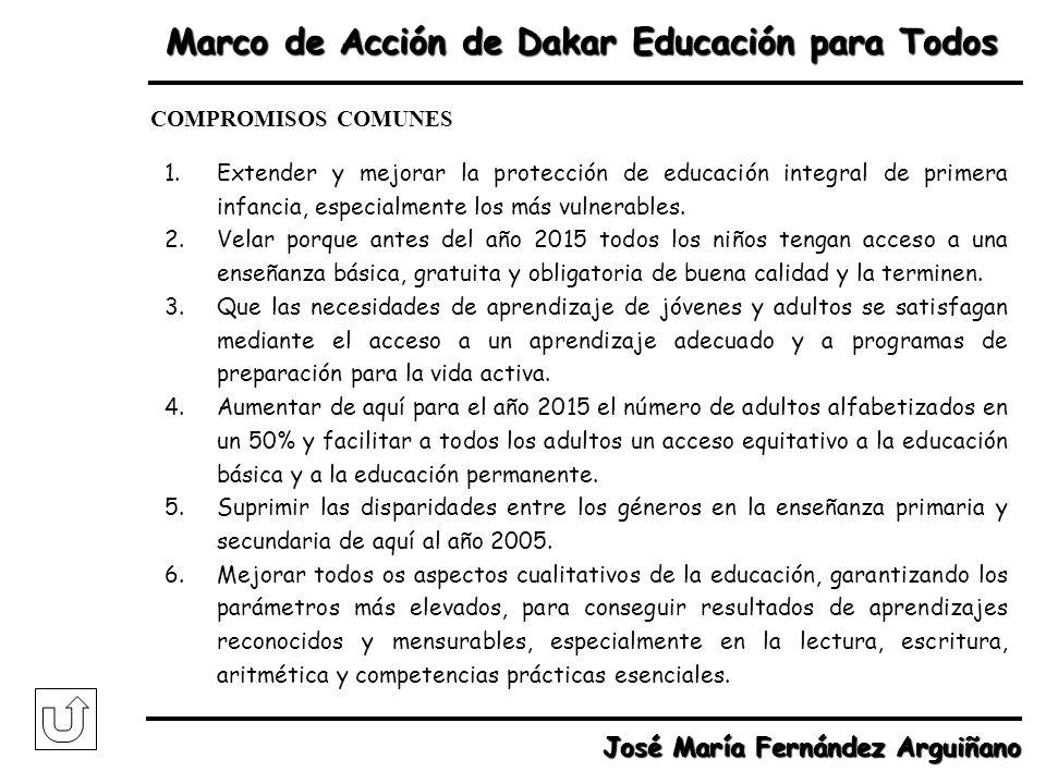 Marco de Acción de Dakar Educación para Todos