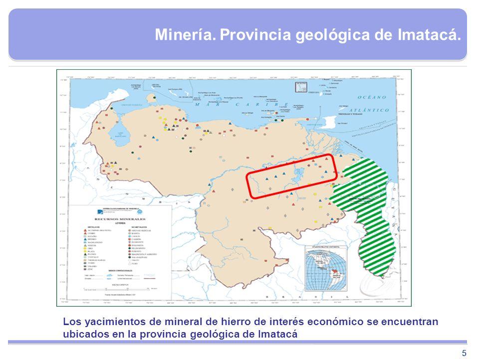Minería. Provincia geológica de Imatacá.